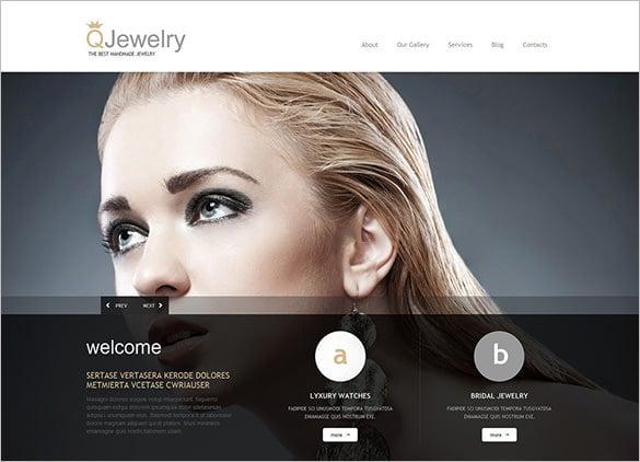 model jewelry responsive wordpress theme
