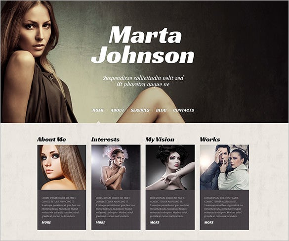 13 model portfolio wordpress themes templates free premium templates. Black Bedroom Furniture Sets. Home Design Ideas