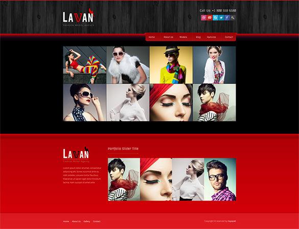 lavan model agency wordpress template