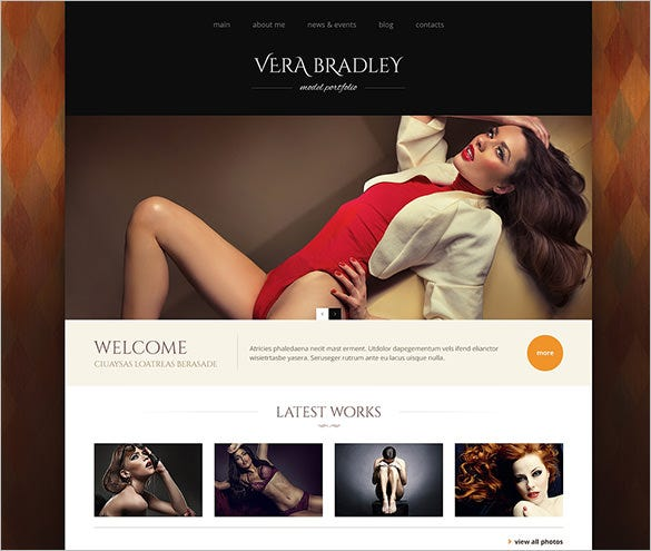 model agency wordpress portfolio template