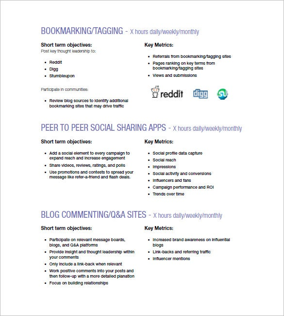 Sample Social Media Campaign Marketing Plan Template