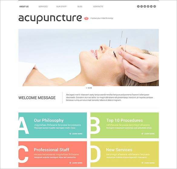 massage salon wordpress template
