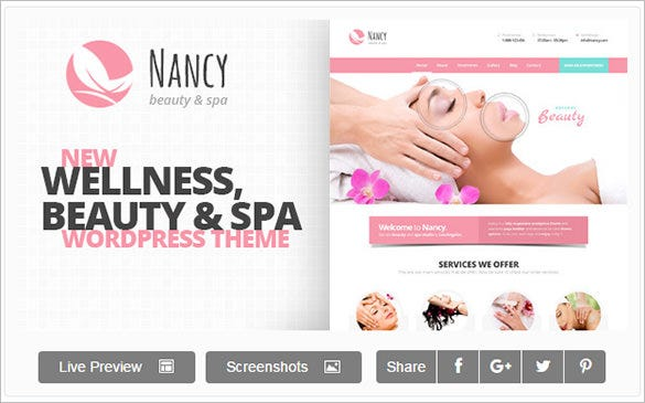 nancy massage wordpress template