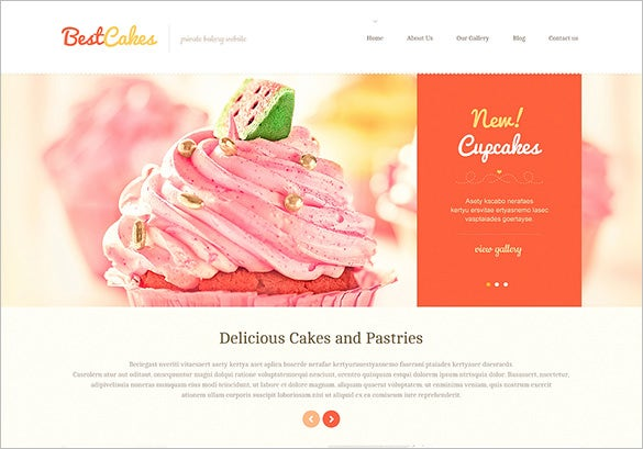 cute sweet shop wordpress template