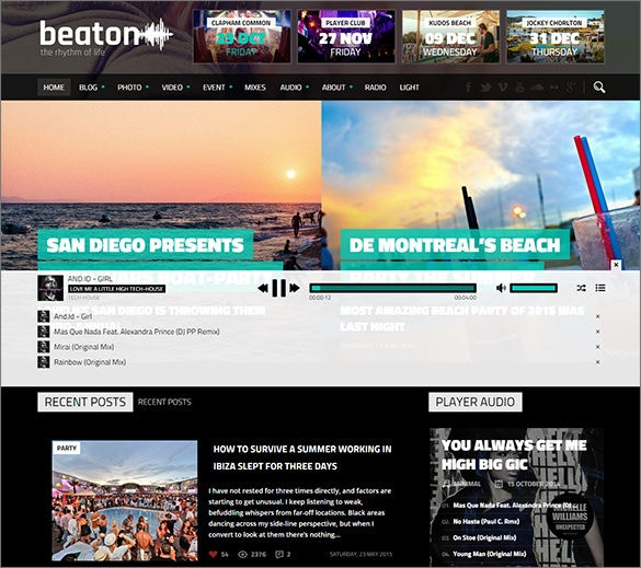 fantastic radio station wordpress theme