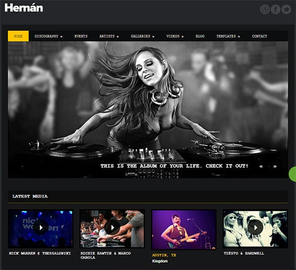 black background radio station wordpress theme