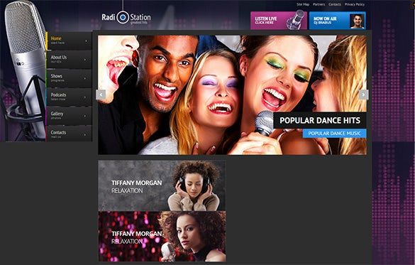 impressive radio station wordpress theme