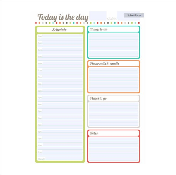 Schedule Template - 10+ Free Word, Excel, PDF Format Download | Free ...