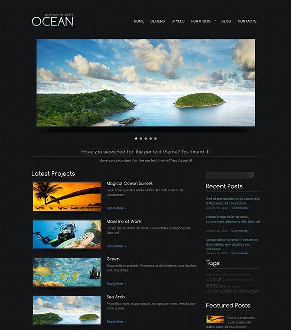 ocean premium wordpress theme