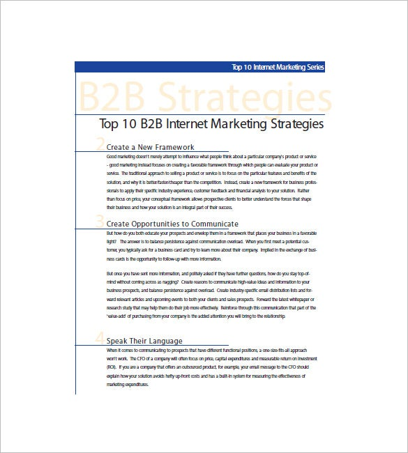 b2b digital marketing plan