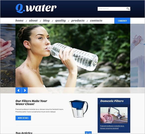 water wordpress theme