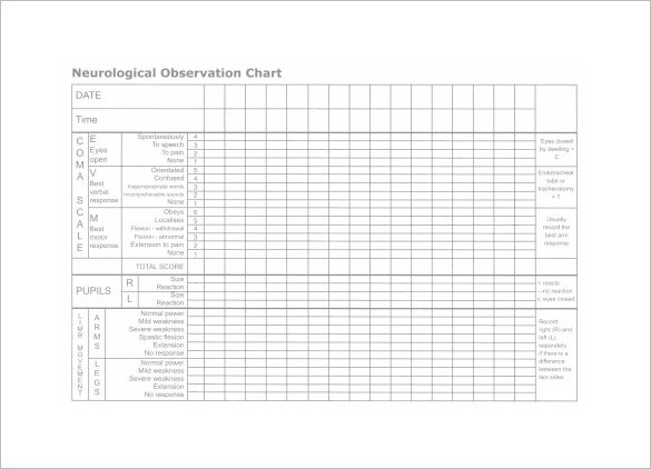 neurological medical observation chart free pdf
