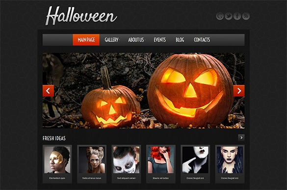 halloween atmosphere wordpress theme
