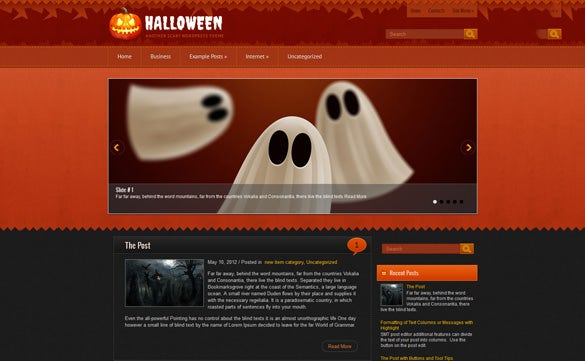 halloween wordpress template