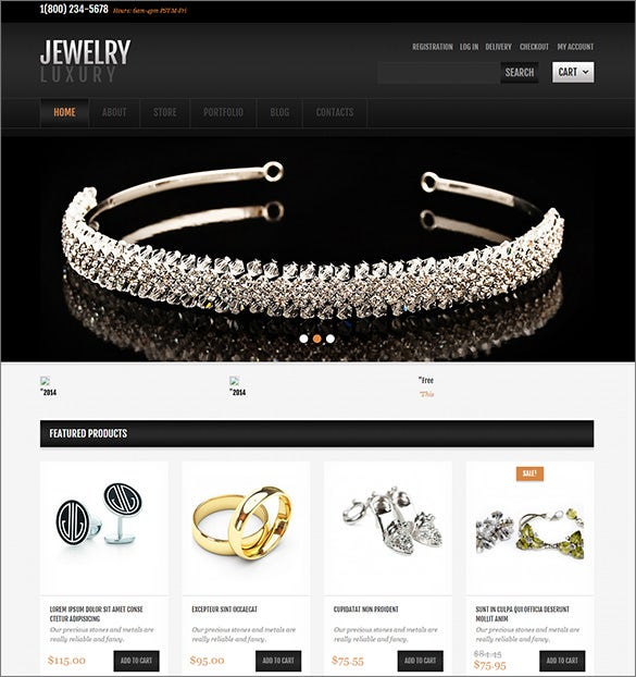 featured jewelry wordpress theme