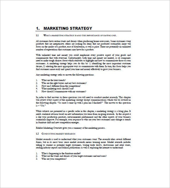 International Marketing Plan Template 11 Free Sample Example