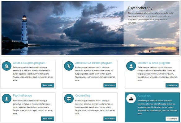 psychotherapy website templates