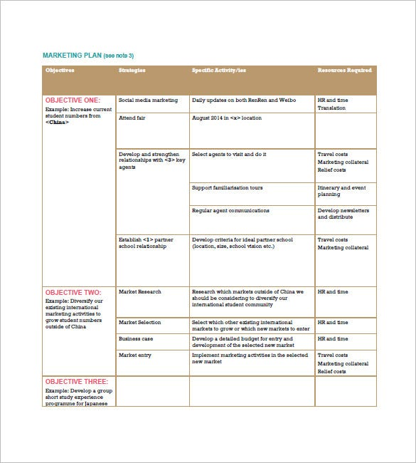 international marketing plan sample
