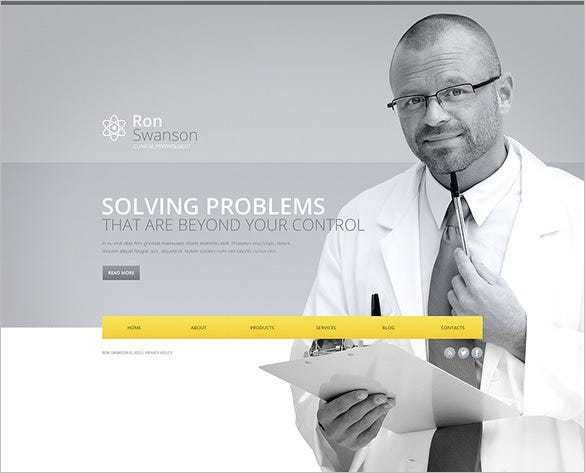 psychologist website wordpress template