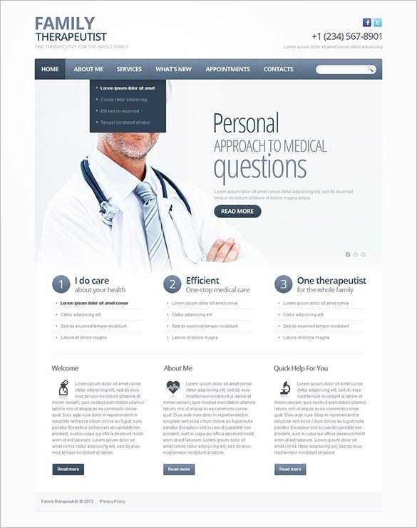 psychologist website wordpress theme