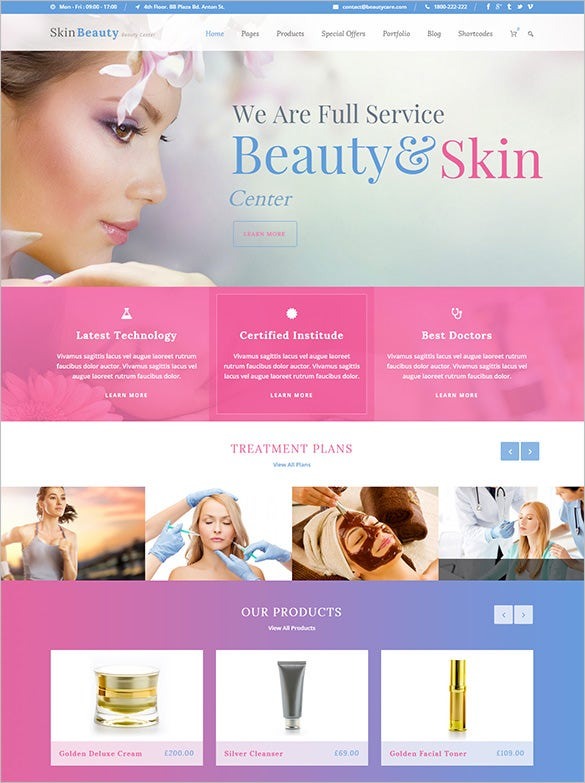 dazzling makeup artists wordpress template