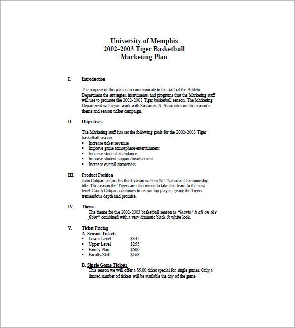 Event Marketing Plan Template 10 Free Sample Example