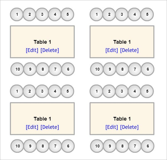 Seating Chart Template – Seating Chart Template Word