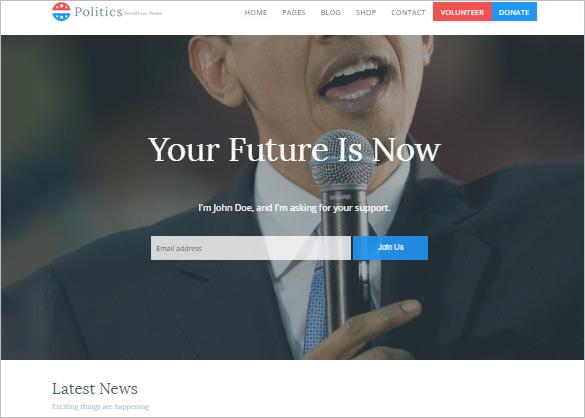political government campaign wordpress theme