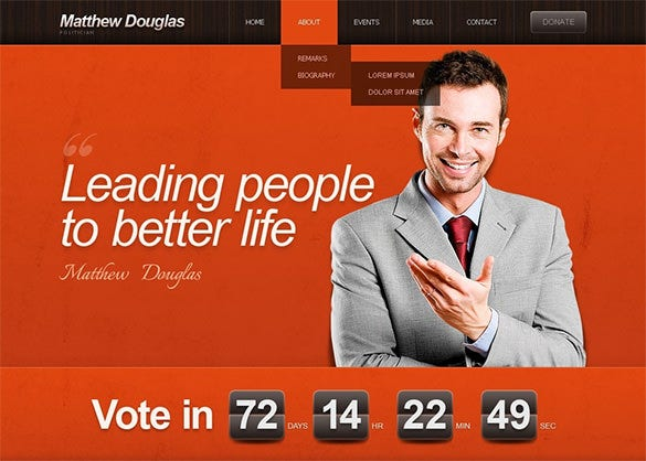 political candidate wordpress template