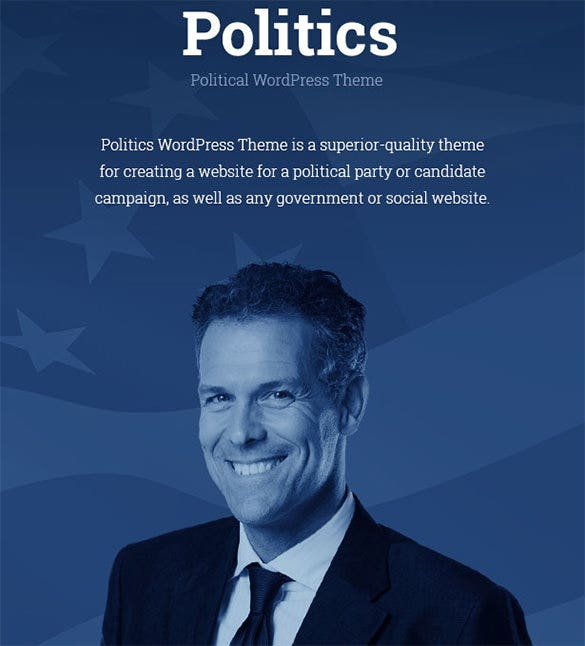 election campaign political wordpress theme