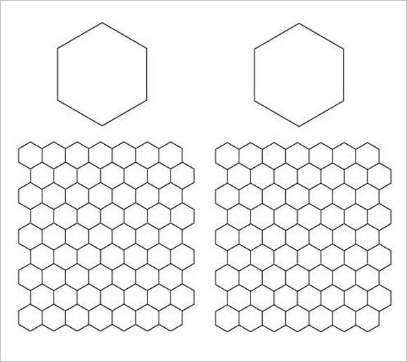 printable english paper piecing hexagons pattern