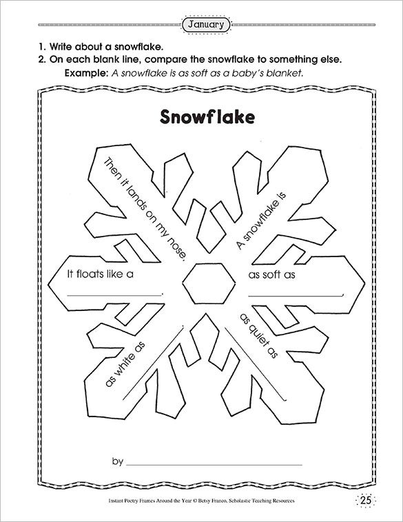 writing a printable paper snow flake template