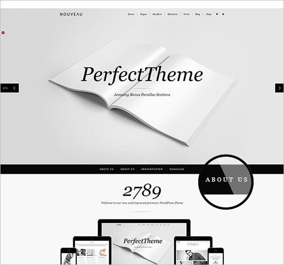 multi purpose retina wordpress theme