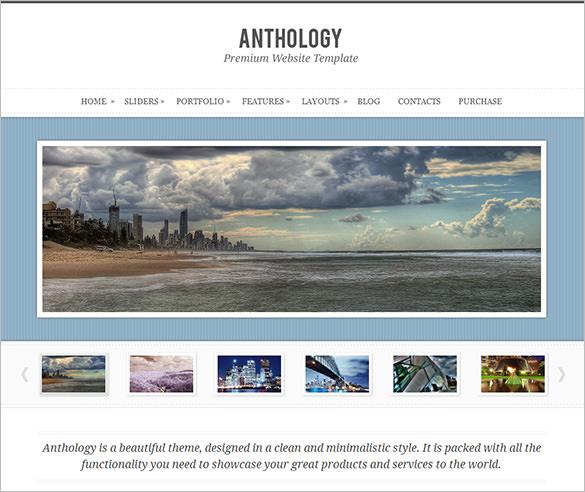 anthology elegant wordpress theme
