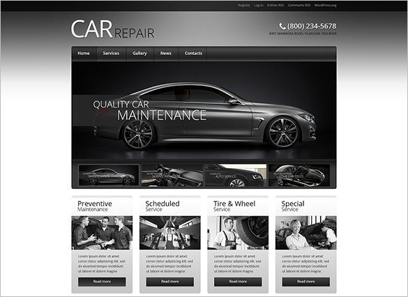 retro car elegance wordpress theme