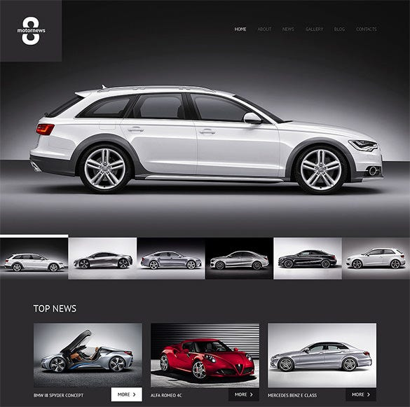 elegant car club wordpress theme