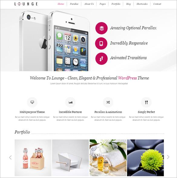 clean elegant wordpress theme