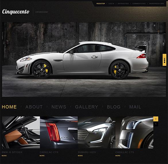 elegant car wordpress template