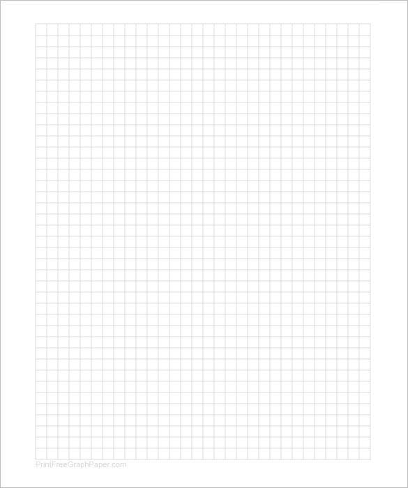 Printable Graph Paper Template 8.5 X 11 PDF Format  Graph Paper Word Document
