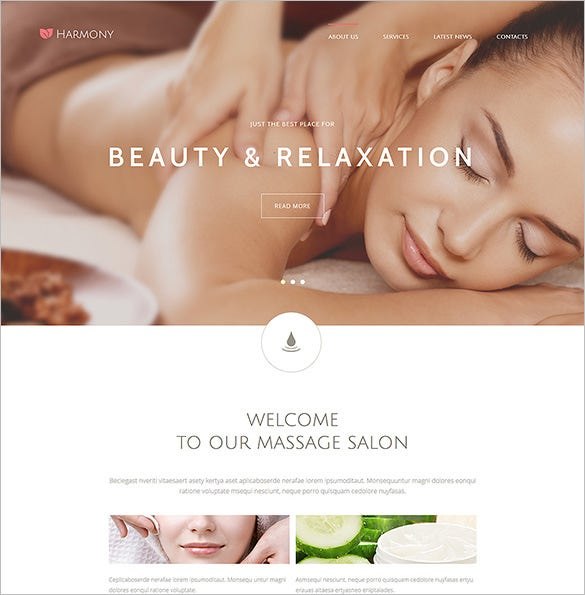 harmony massage salon joomla template