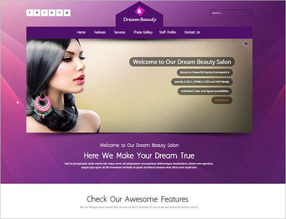 beauty massage salon responsive joomla template