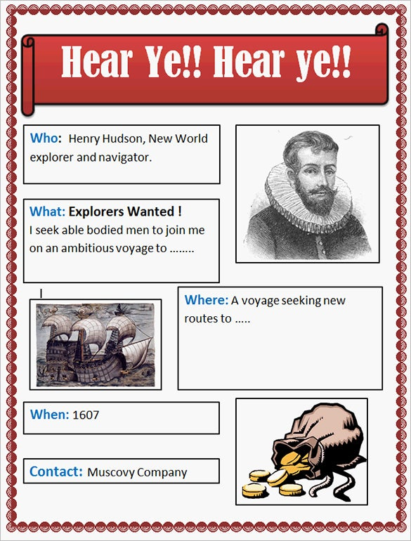 explorers help wanted poster example