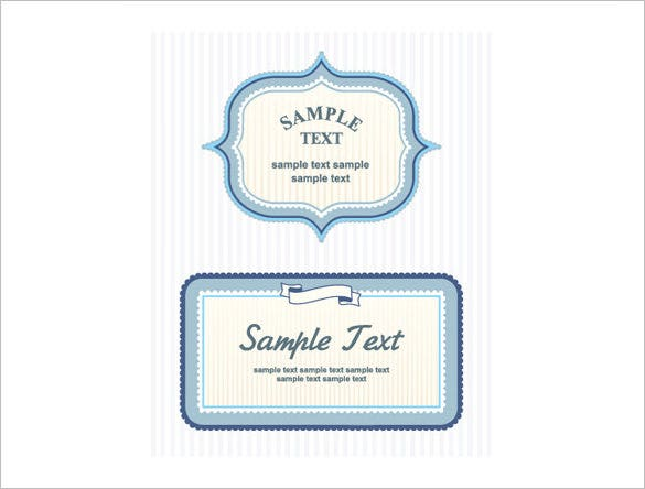 envelope label template eps format
