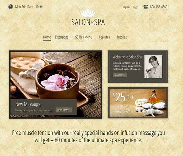 salon n spa joomla template