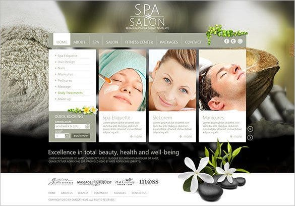 massage salon business joomla template