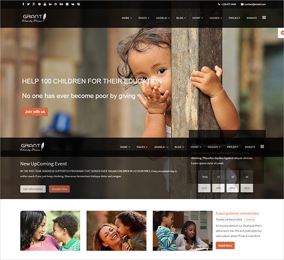 charity non profit joomla theme