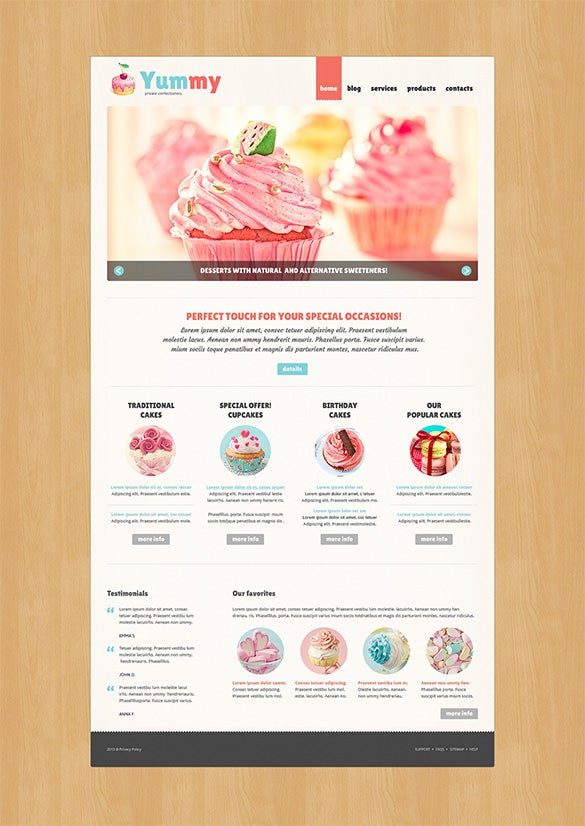 private confectionery sweet shop joomla template