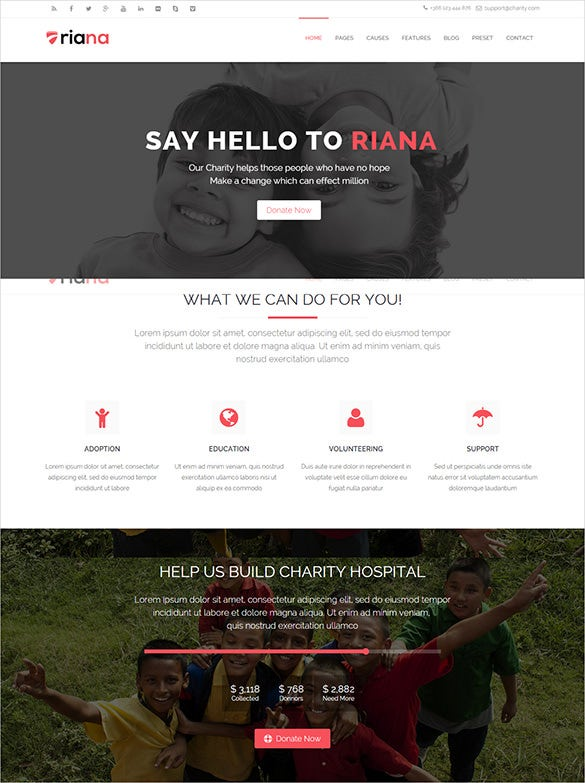 excellent charity non profit joomla template