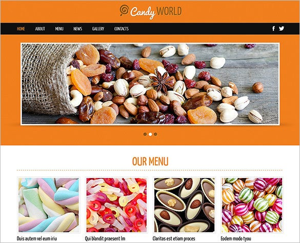 sweet shop responsive joomla theme