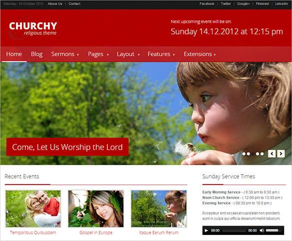churchy non profit joomla theme